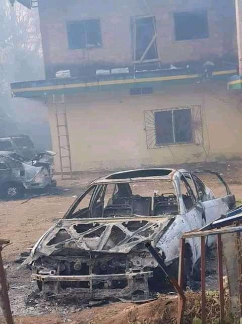 Police Station Set On Fire