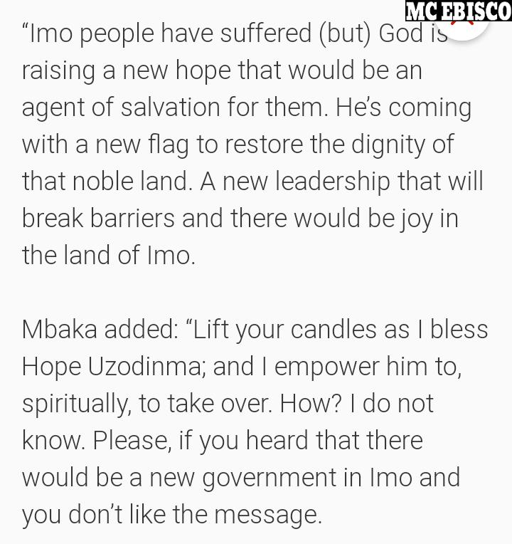 Father Mbaka Prophecies