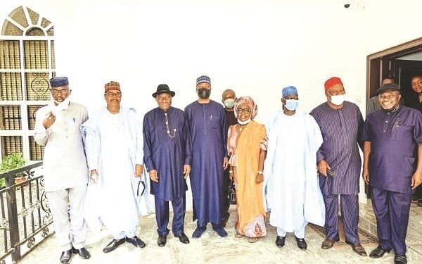 PDP Leaders Meeting Former President Jonathan