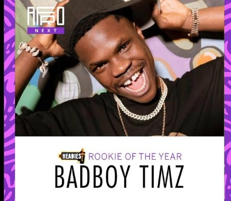 Bad Boy Timz Wins Rookie of the Year