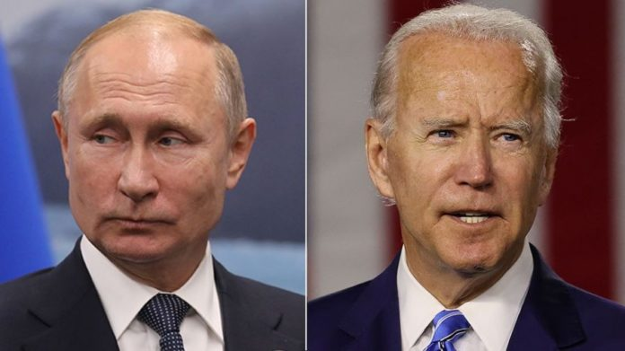 US President Biden And Russian Putin Killer Cold War