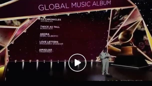 Burna Boy Reacted To Winning Grammy Award