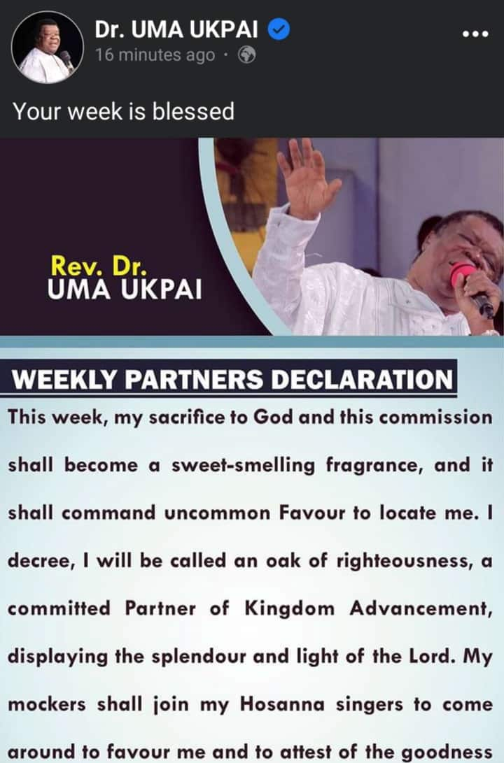 Rev. Uma Ukpai Releases New Prophecies (Full List)