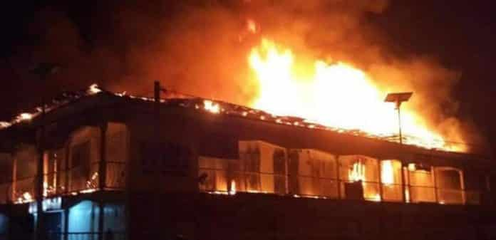 Borno Government House On Fire