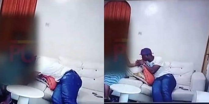 CCTV Footage Of Baba Ijesha Actively Molesting Minor