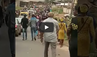 Protest Hits Enugu Over Mbaka's Disappearance