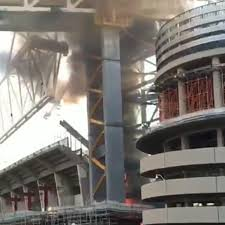 Real Madrid Stadium Santiago Bernabeu On Fire