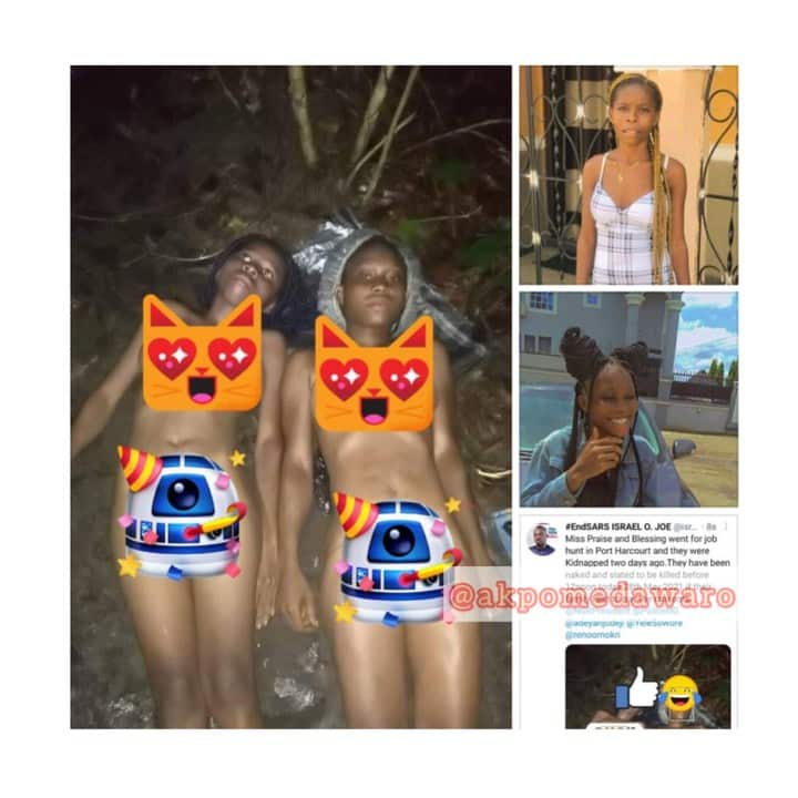 Graphic Photos: 2 Female Job Seekers Kidnapped In Port Harcourt By Human Parts Dealers