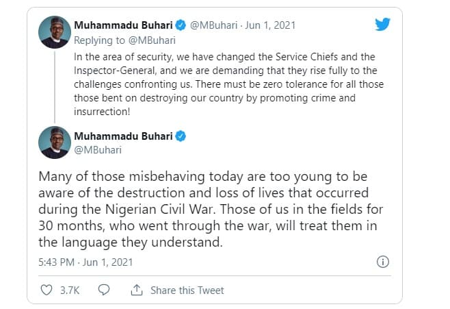 Buhari Under Fire For Threatening Igbo With Another Genocide