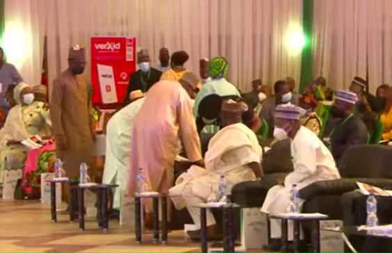 BREAKING: EFCC Chairman Slumps After Speech In Abuja [Video/Photos]