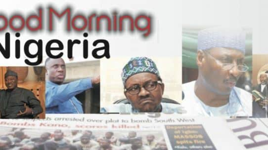 Nigerian Newspapers Daily Front Pages