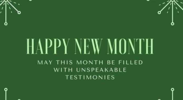 Happy New Month Of October 2021 Messages