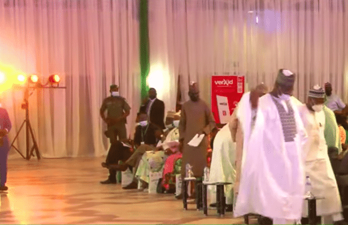 BREAKING: EFCC Chairman Slumps After Speech In Abuja [Video/Pho tos]